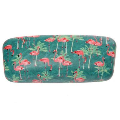 236678a2d9d (Zonne)bril etui flamingo groen