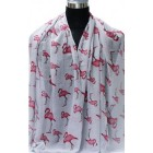 Shawl Happy flamingo