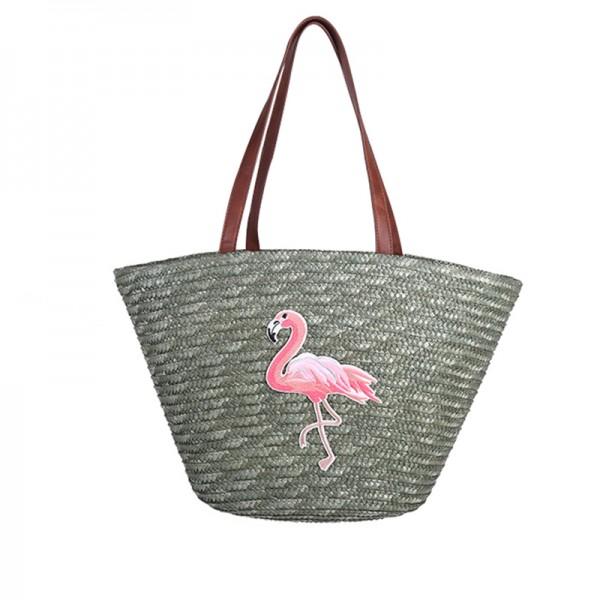 60d75e35354 Flamingo (strand)tas groene uitvoering