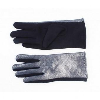 Handschoenen metalic blauw