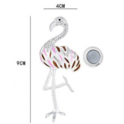 Flamingo magneet broche multi color