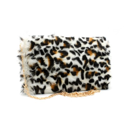 Clutch Fake fur cross body bag