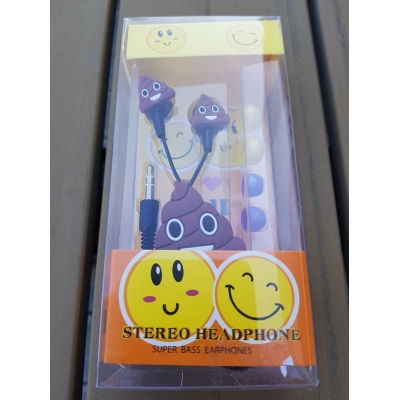 Smartphone oordopjes model emoticons